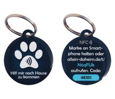 Allein-Daheim Blauer ID Anhänger mit Ring