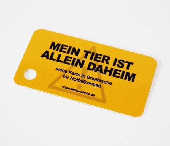 Allein-Daheim Notfall-Schlüsselanhänger ohne Schlüssel