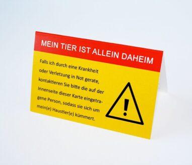 Allein-Daheim große Notfall-Kontaktkarte Titelbild